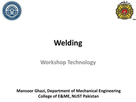 Welding Workshop Technology
