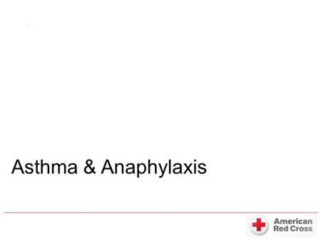 Asthma & Anaphylaxis. 1.Life-long lung disease 2.23 million Americans were affected (2008) 3.Severe cases are on the rise.
