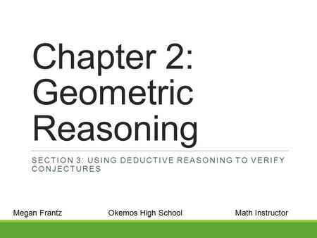 Chapter 2: Geometric Reasoning