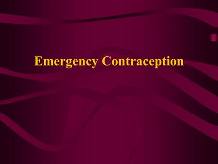 Emergency Contraception. Emergency contraceptive pills (ECPs) provide a short, high dose of combined estrogen and progestin, or progestin alone and are.