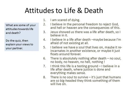 Do You Have a Healthy Attitude About Death?