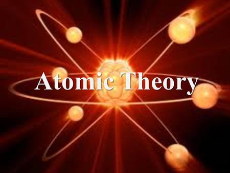 Atomic Theory. 5 th Century BCE - Democritus Atoms are small hard particles. Made of a single material that's formed into different shapes and sizes.