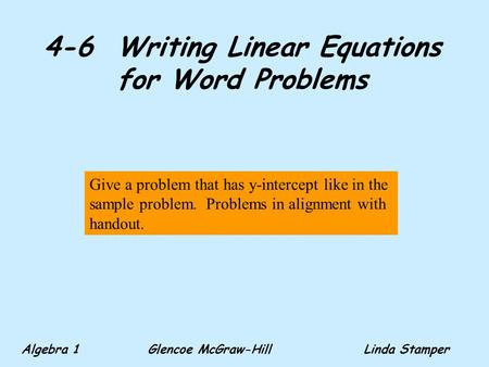 writing linear equations word problems A super common question is the difference between expressions and equations word problems simultaneous linear equations equations or inequalities writing.