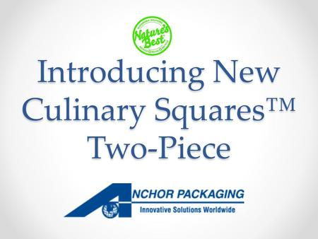 Introducing New Culinary Squares™ Two-Piece