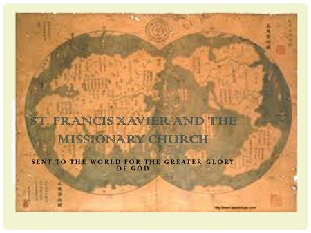St. Francis Xavier and the Missionary Church