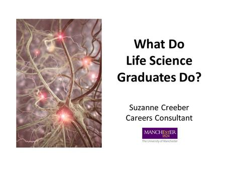 What Do Life Science Graduates Do? Suzanne Creeber Careers Consultant.