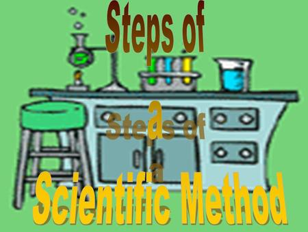 Steps of a Scientific Method.