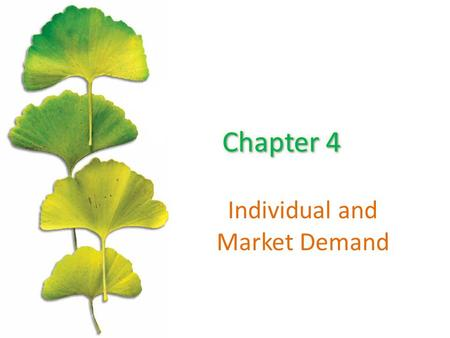 Individual and Market Demand. Chapter Outline ©2015 McGraw-Hill Education. All Rights Reserved. 2 The Effects of Changes in the Price The Effects of Changes.