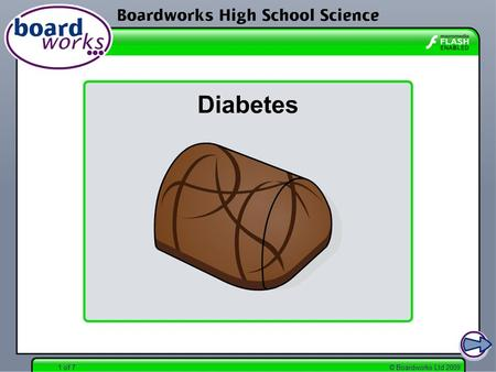 Boardworks High School Science Diabetes
