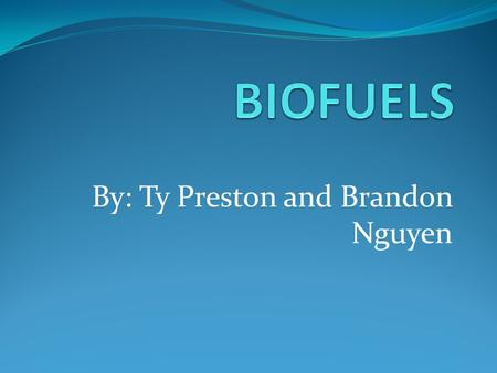 By: Ty Preston and Brandon Nguyen. How its made its fuels are made by burning plants or animals.