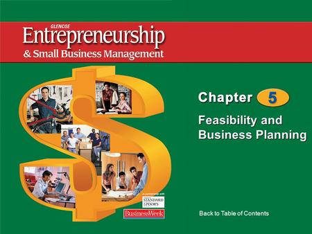 Feasibility and Business Planning Back to Table of Contents.