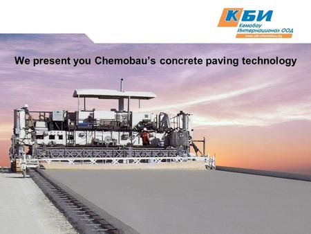 We present you Chemobau's concrete paving technology.