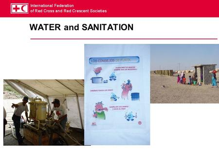 WATER and SANITATION.