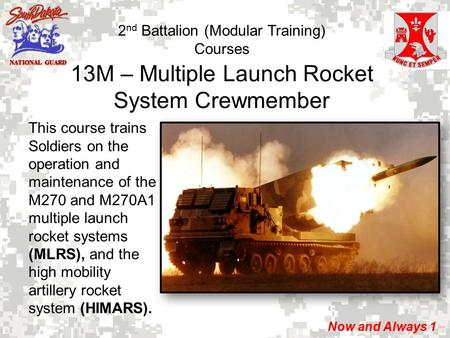 13M – Multiple Launch Rocket System Crewmember