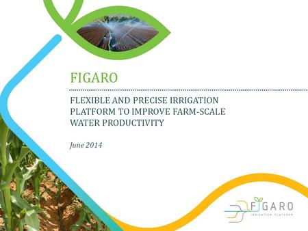 FLEXIBLE AND PRECISE IRRIGATION PLATFORM TO IMPROVE FARM-SCALE WATER PRODUCTIVITY FIGARO June 2014.