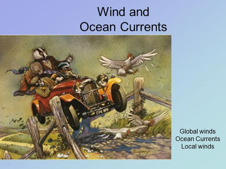 Wind and Ocean Currents Global winds Ocean Currents Local winds.