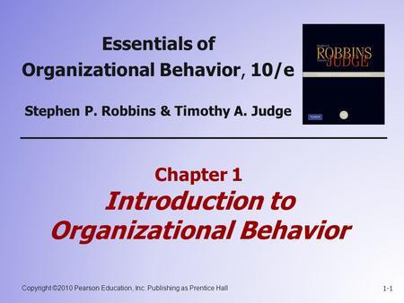 An Introduction to Organizational Behavior
