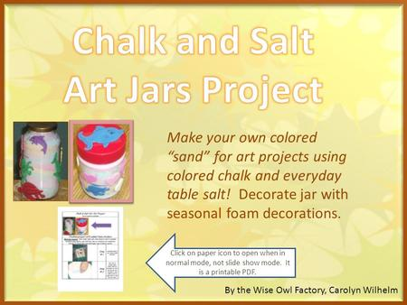 Chalk and Salt Art Jars Project