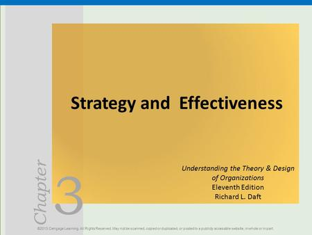 Strategy and Effectiveness