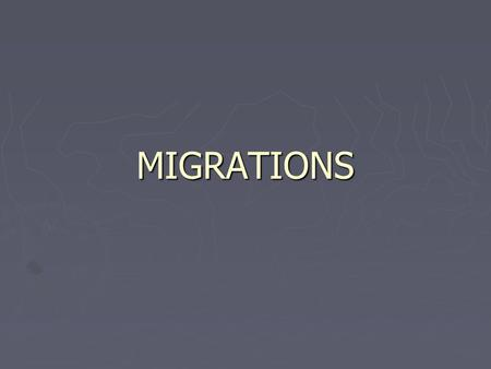 MIGRATIONS. EXCHANGED: EXCHANGED: That is a migration which gets on an agreement. For example ; After Kurtuluş War (Independence War of Turkey) and according.