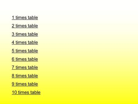 1 times table 2 times table 3 times table 4 times table 5 times table