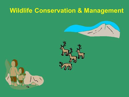 Wildlife Conservation & Management. Key Topics Wildlife Conservation Management & Conservation Principles.