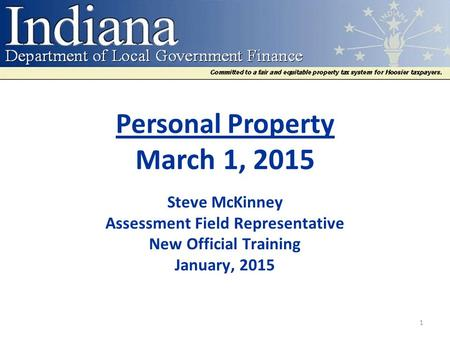 Personal Property March 1, 2015