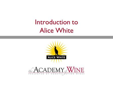 Introduction to Alice White. Overview  History  Brand  Wines.