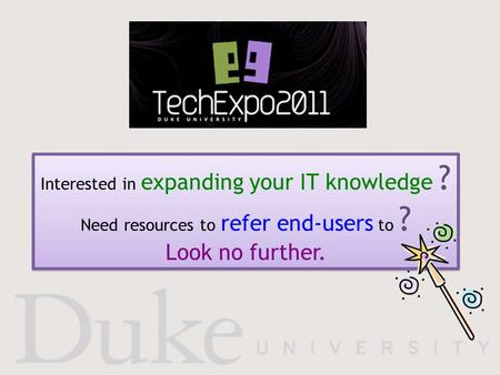Interested in expanding your IT knowledge ? Need resources to refer end-users to ? Look no further.