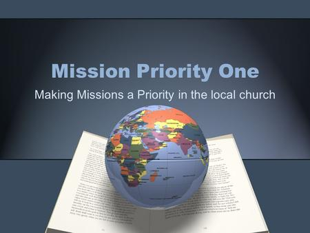 Making Missions a Priority in the local church
