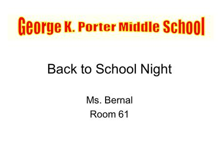 George K. Porter Middle School