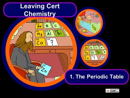 Leaving Cert Chemistry 1. The Periodic Table. You should know the following by the end of today's class… History of the idea of elements including the.