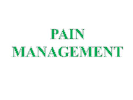 ANALGESICS FOR PAIN Pain is commonly one of the reasons on why patient always seek medical treatment. TYPES: Acute Chronic Mild Moderate Severe.