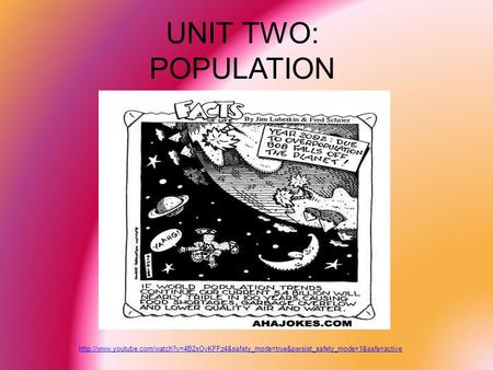 UNIT TWO: POPULATION