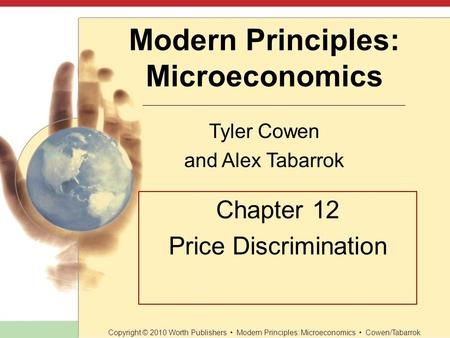 Chapter 12 Price Discrimination