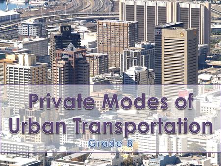 Main mode to work - % of commuters Western Cape 45.50.68 Eastern Cape 15.50.23 Northern Cape 25.40.41 Free.