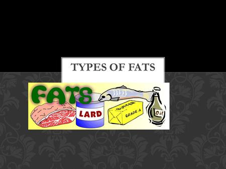 Fats (lipids) are a class of nutrients. Fats are solid at room temperature (animals) Oils are liquid at room temperature(plants) Monomer is fatty acid.