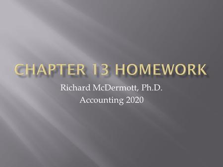Richard McDermott, Ph.D. Accounting 2020