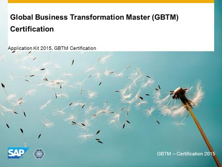 Global Business Transformation Master (GBTM) Certification