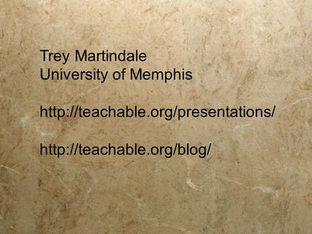 Trey Martindale University of Memphis