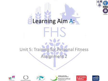 Learning Aim A: Unit 5: Training for Personal Fitness Assignment 2.
