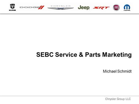 SEBC Service & Parts Marketing