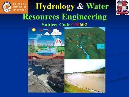 Hydrology & Water Resources Engineering
