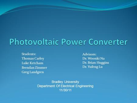 Photovoltaic Power Converter