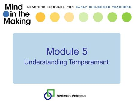 Understanding Temperament