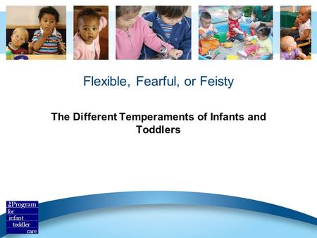 Flexible, Fearful, or Feisty The Different Temperaments of Infants and Toddlers.