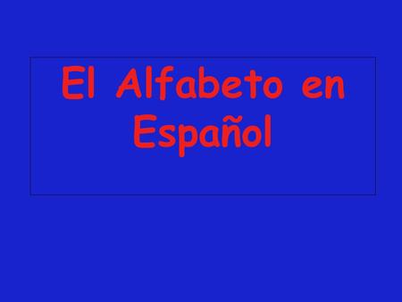 El Alfabeto en Español. There are 30 letters in the Spanish alphabet. This is 4 more than are in the English alphabet CH, LL, Ñ, RR Listen carefully to.