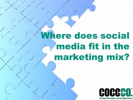 Where does social media fit in the marketing mix?