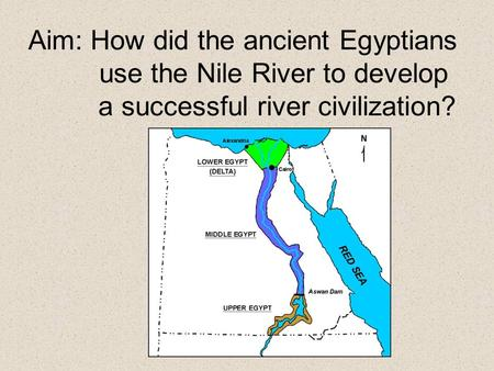 The Nile River Valley Label & color the map using textbook pg. 39