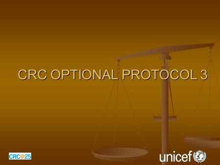 CRC OPTIONAL PROTOCOL 3. What does the new Optional Protocol provide? Provides for a communications or 'complaints procedure' that allows individuals,